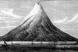 An early 19th century image of Krakatoa.