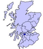 Glasgow's location in Scotland