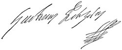 Autograph of king  (1594-1632)